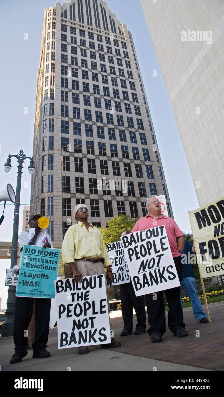 Protest Against Government Bailout of Wall Street - Stock Image