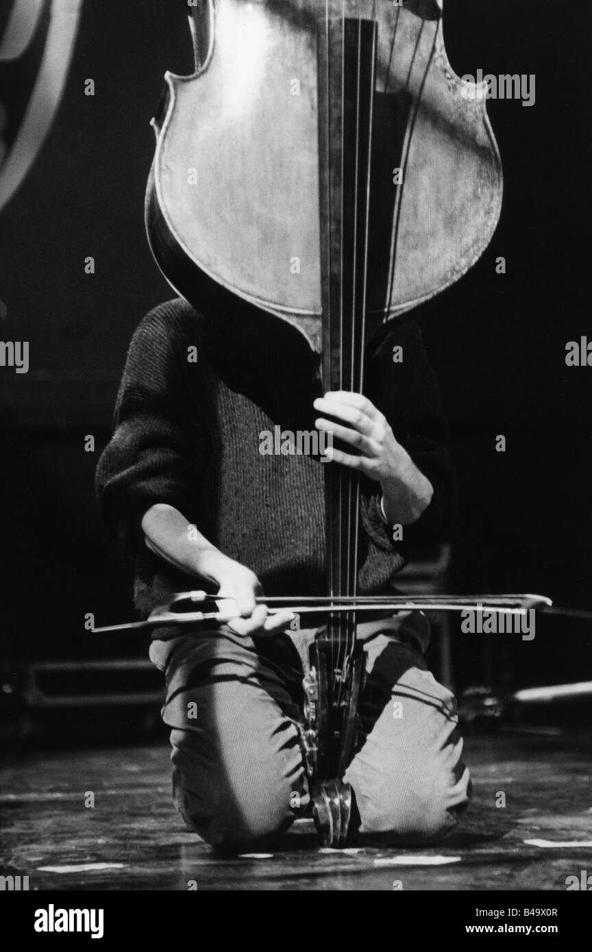 Orchestre de Contrabasses, French band (Jazz), live performance, Stuttgart, April 1998, Additional-Rights-Clearances - Stock Image