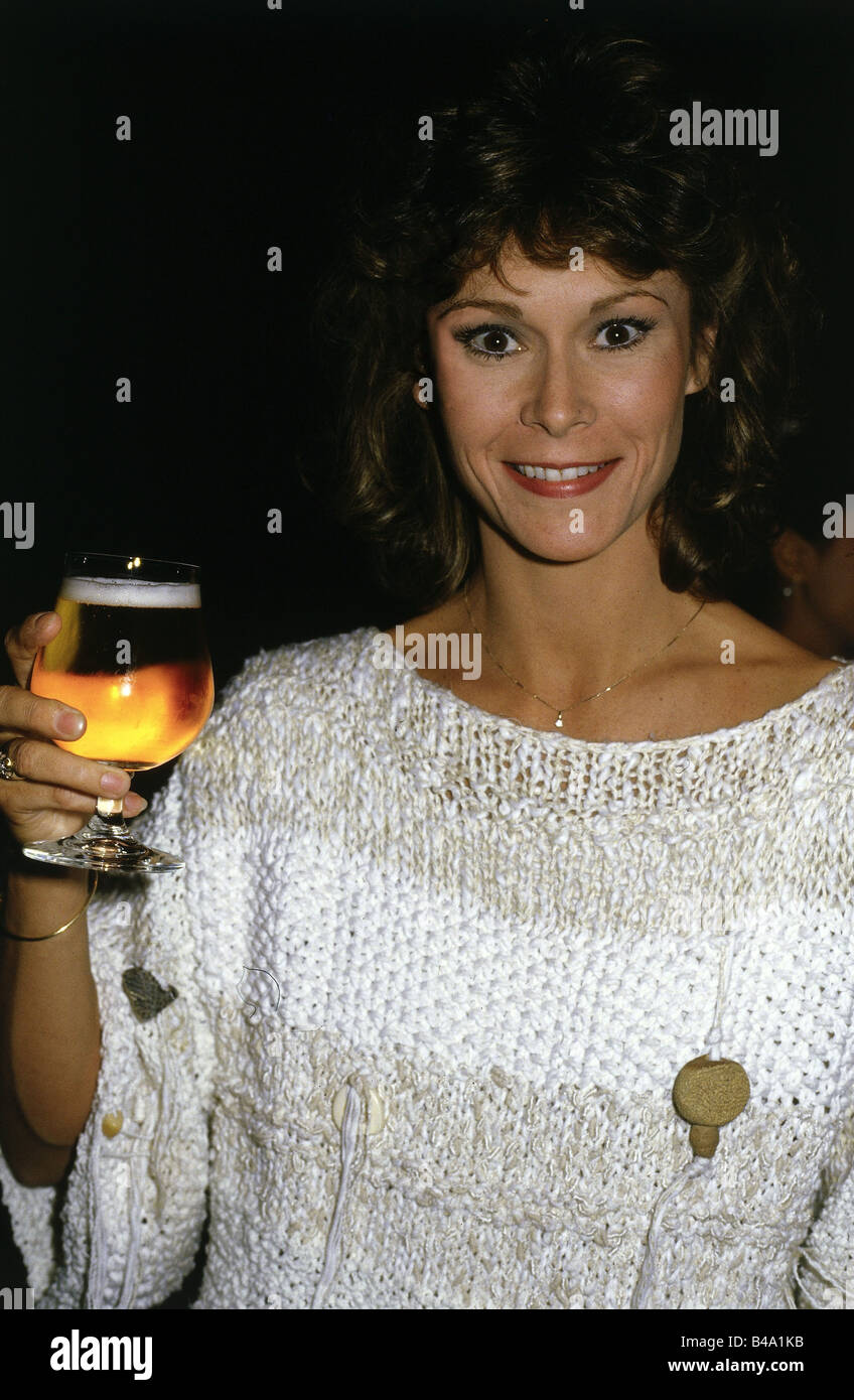 Jackson, Catherine Elise 'Kate', * 29.10.1948, American actress, half length, Munich, 1984, Additional-Rights - Stock Image