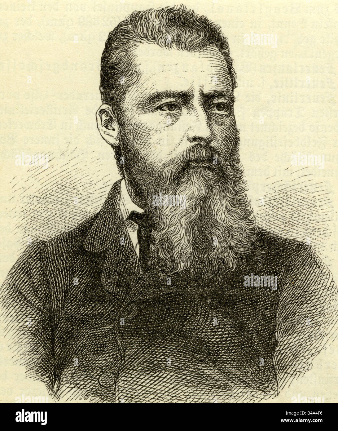 Feuerbach, Ludwig, 28.7.1804 - 13.9.1872, German philosopher, portrait, engraving, 19th century, , Additional-Rights - Stock Image