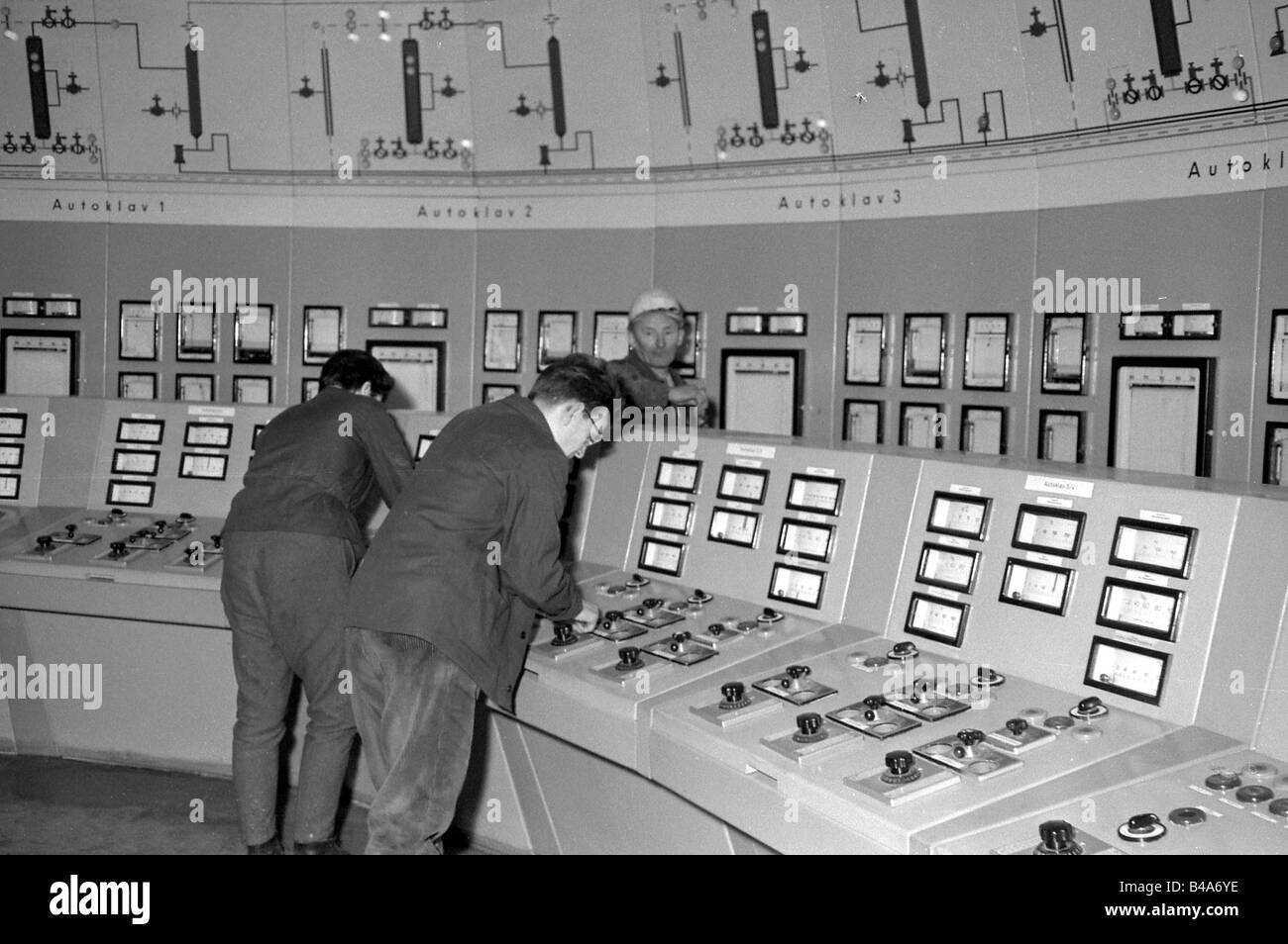 geography/travel, Germany, German Demokratic Republic, chemical industry, Chemical Works Combinate 'Walter Ulbricht', - Stock Image