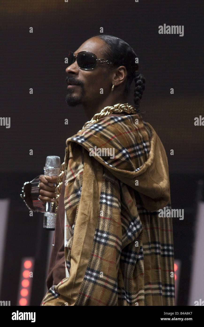 Snoop Dogg, * 20.10.1971, American singer (rap), actor, live performance, Live Earth, half length, Hambug, 7.7.2007, - Stock Image