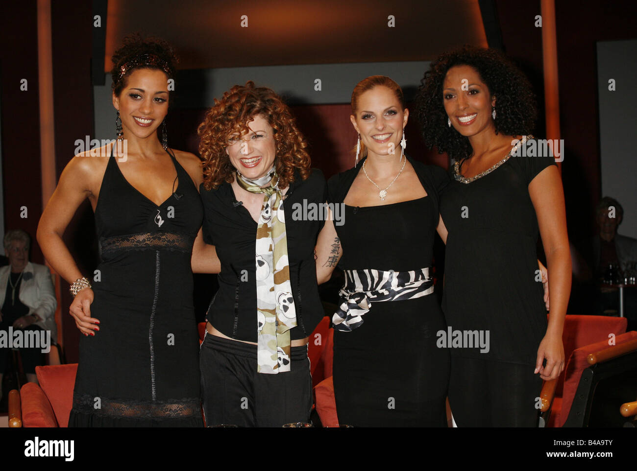 No Angels, German pop group (pop music), founded: 2001, members: Nadja Benaissa, Ludmila Diakovska, Sandy Mölling, Stock Photo