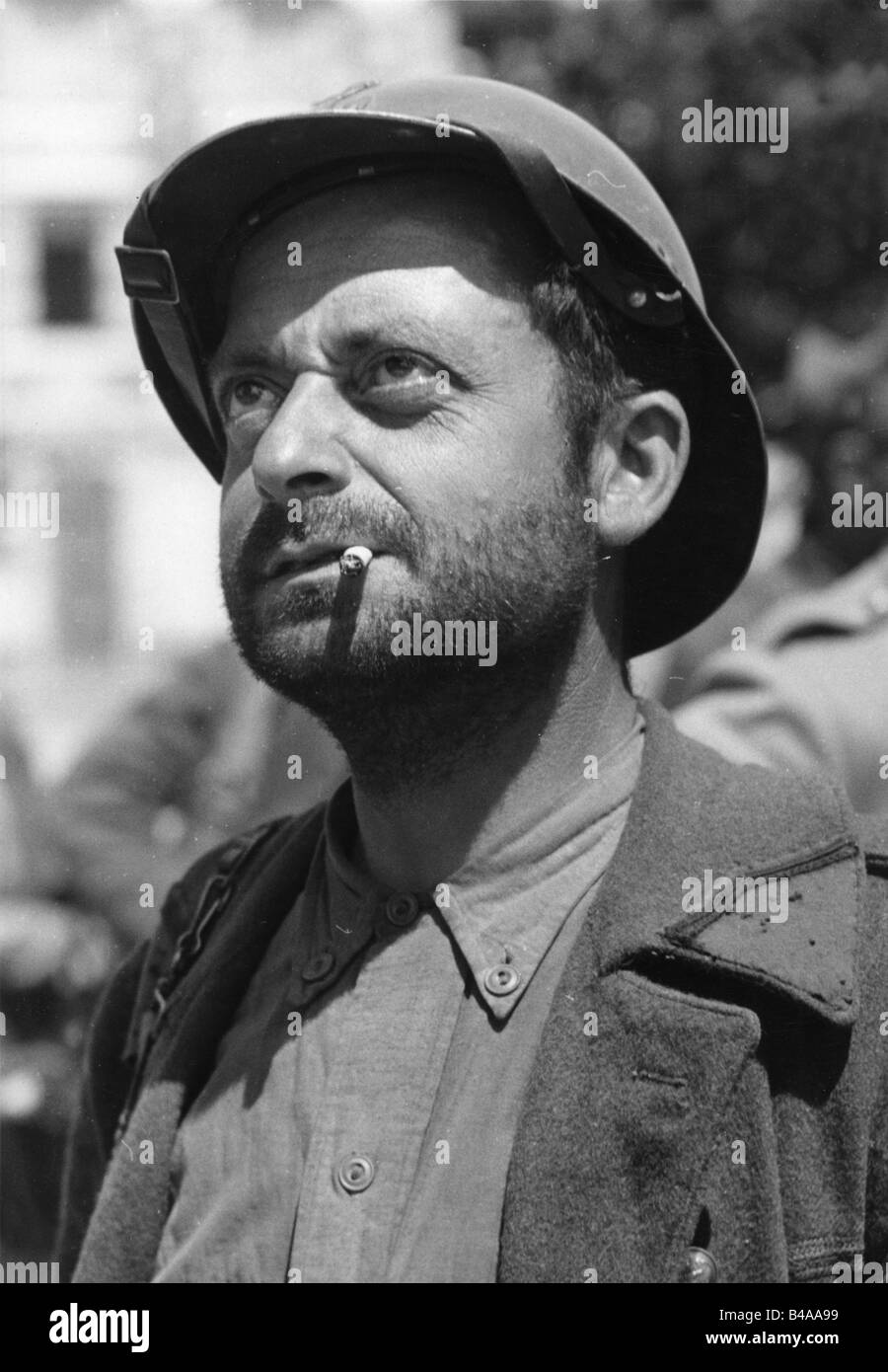 events, Second World War / WWII, France, captured French soldier, May 1940, Additional-Rights-Clearances-NA Stock Photo