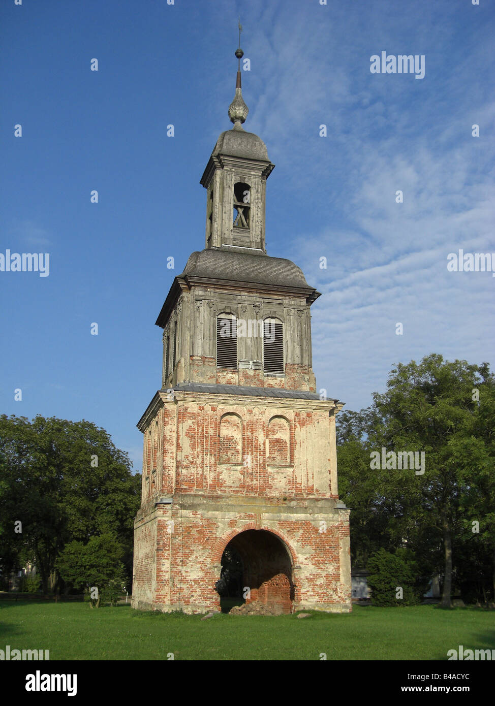geography / travel, Germany, Mecklenburg-Western Pomerania, Remplin, castles, Remplin Castle, ruin of a tower, exterior - Stock Image
