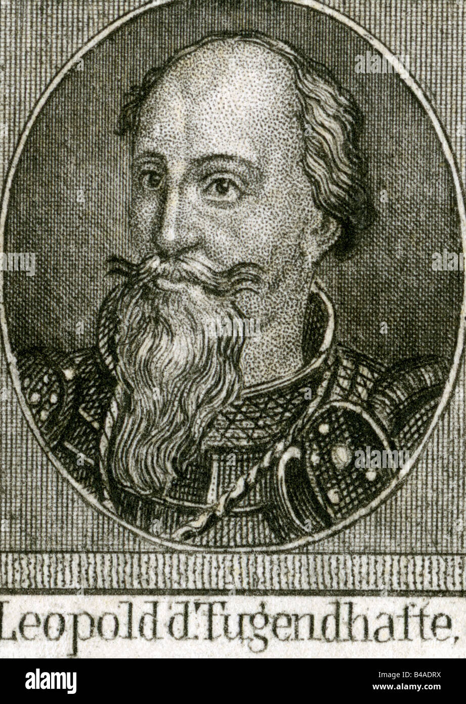 "Leopold V ""the Virtuous"", 1157 - 31.12.1194, Duke of Austria 1177 - 1194,  portrait, steel engraving, 19th century, Artist's Copyright has not to be  cleared"