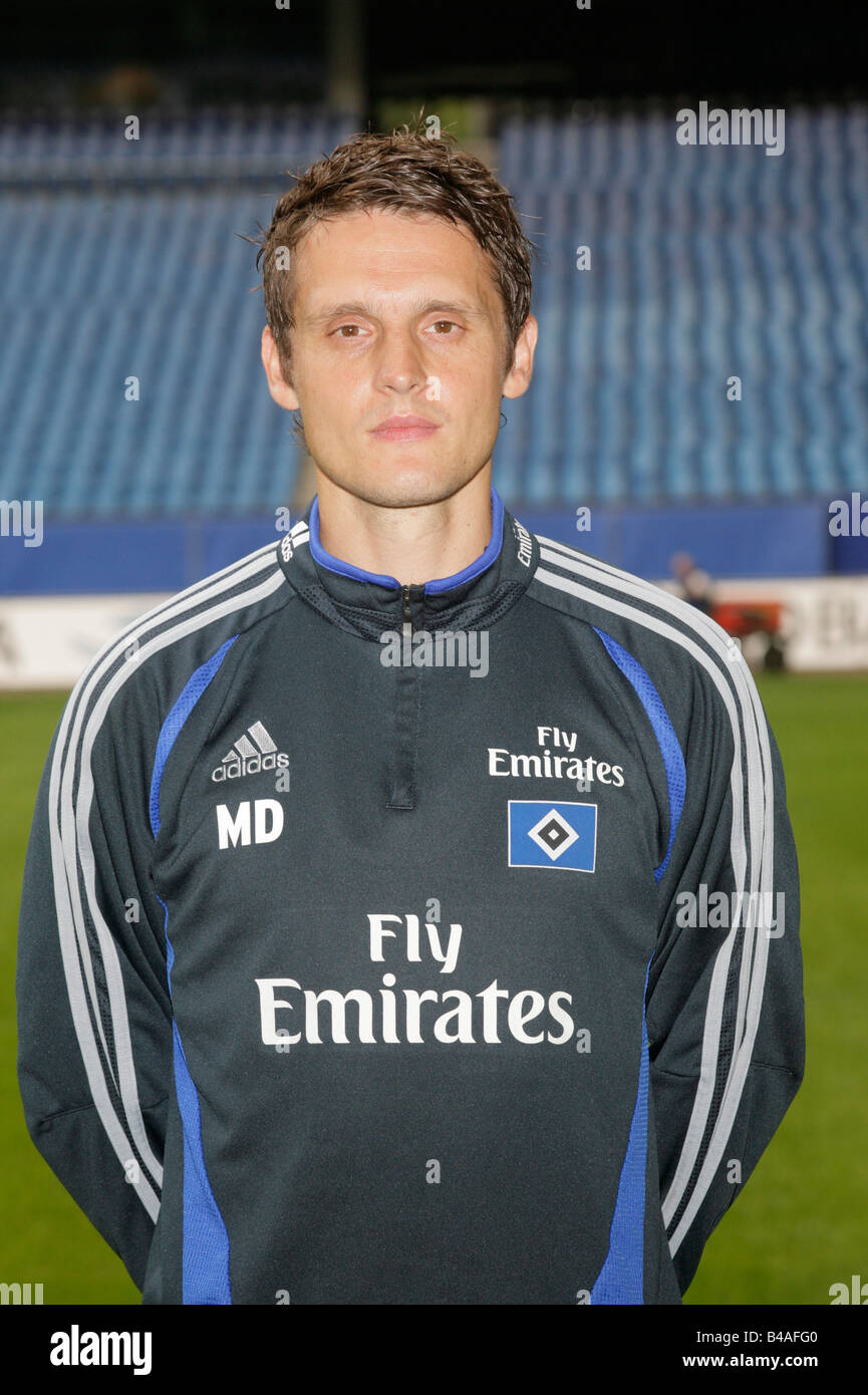 Duering, Manfred, 9.11.1971, German athlete (football), half length, athletic diagnosis, Hamburg Sports Club (HSV), Stock Photo