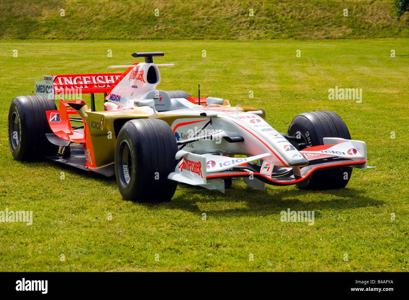 F1 Formula one motor sport Kingfisher Force India - Stock Image