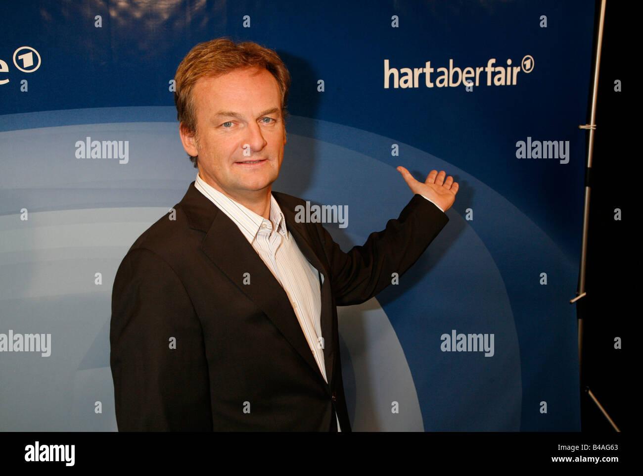 Plasberg, Frank, * 18.5.1957, German journalist and moderator, half length, photo call to the ARD telecast 'Hart - Stock Image