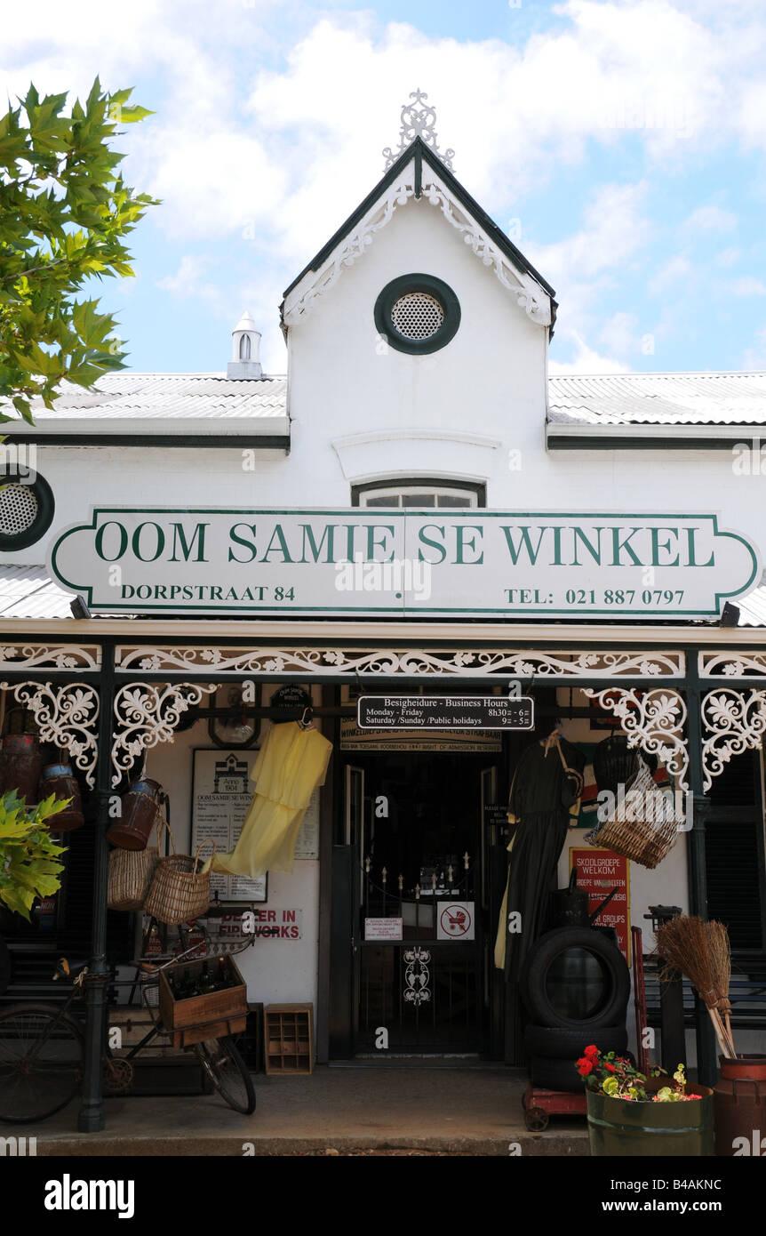 geography / travel, South Africa, Stellenbosch, trade, shop 'OOM SAMIE SE WINKEL' (Uncle Sam Shop), House - Stock Image
