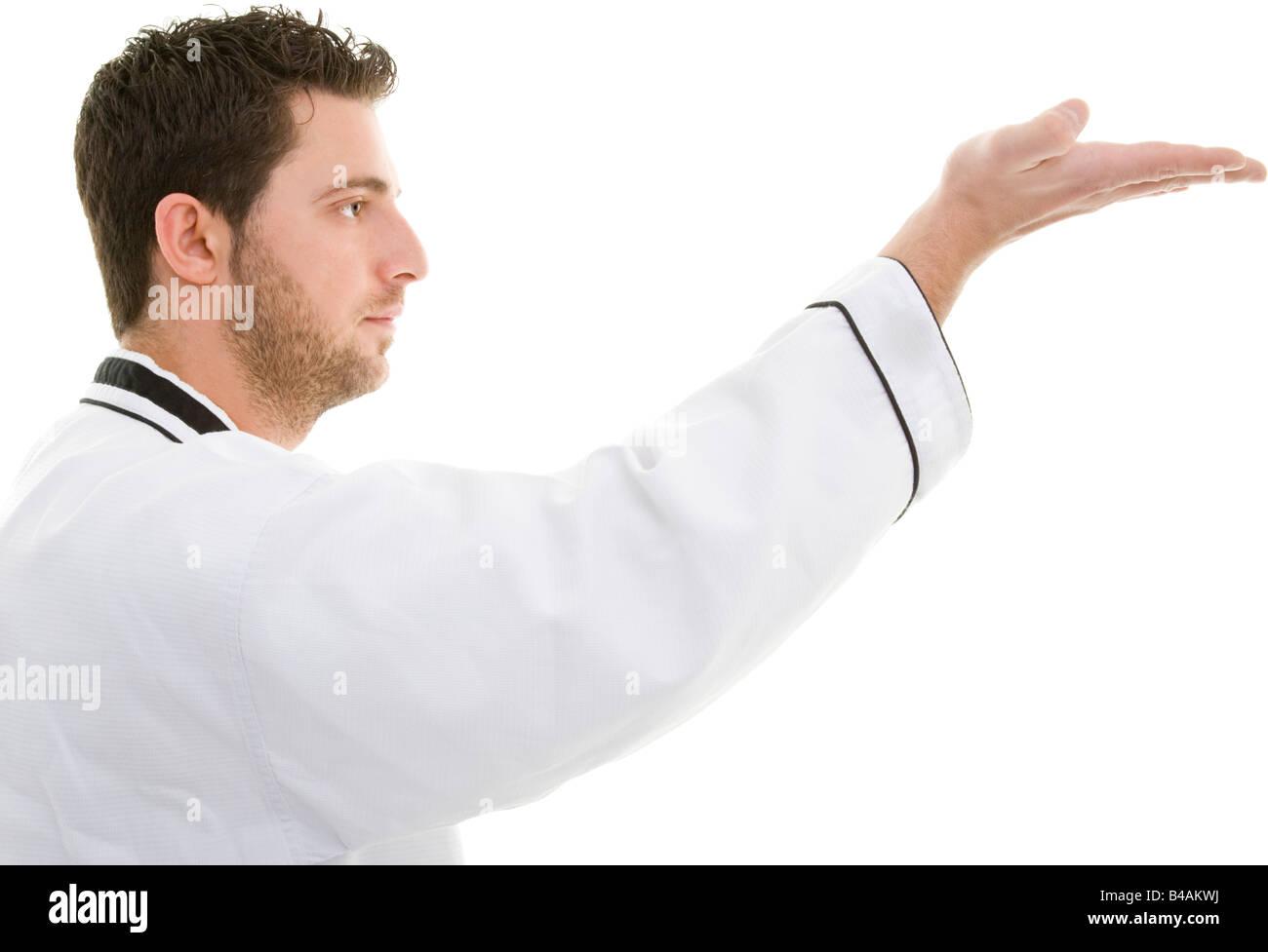 man make taekwondo - Stock Image
