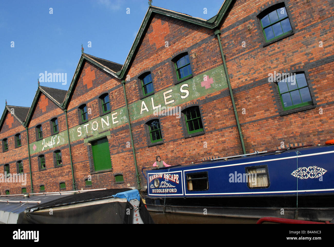 The former Joules Stone Ales brewery on the canalside in Stone Staffordshire - Stock Image