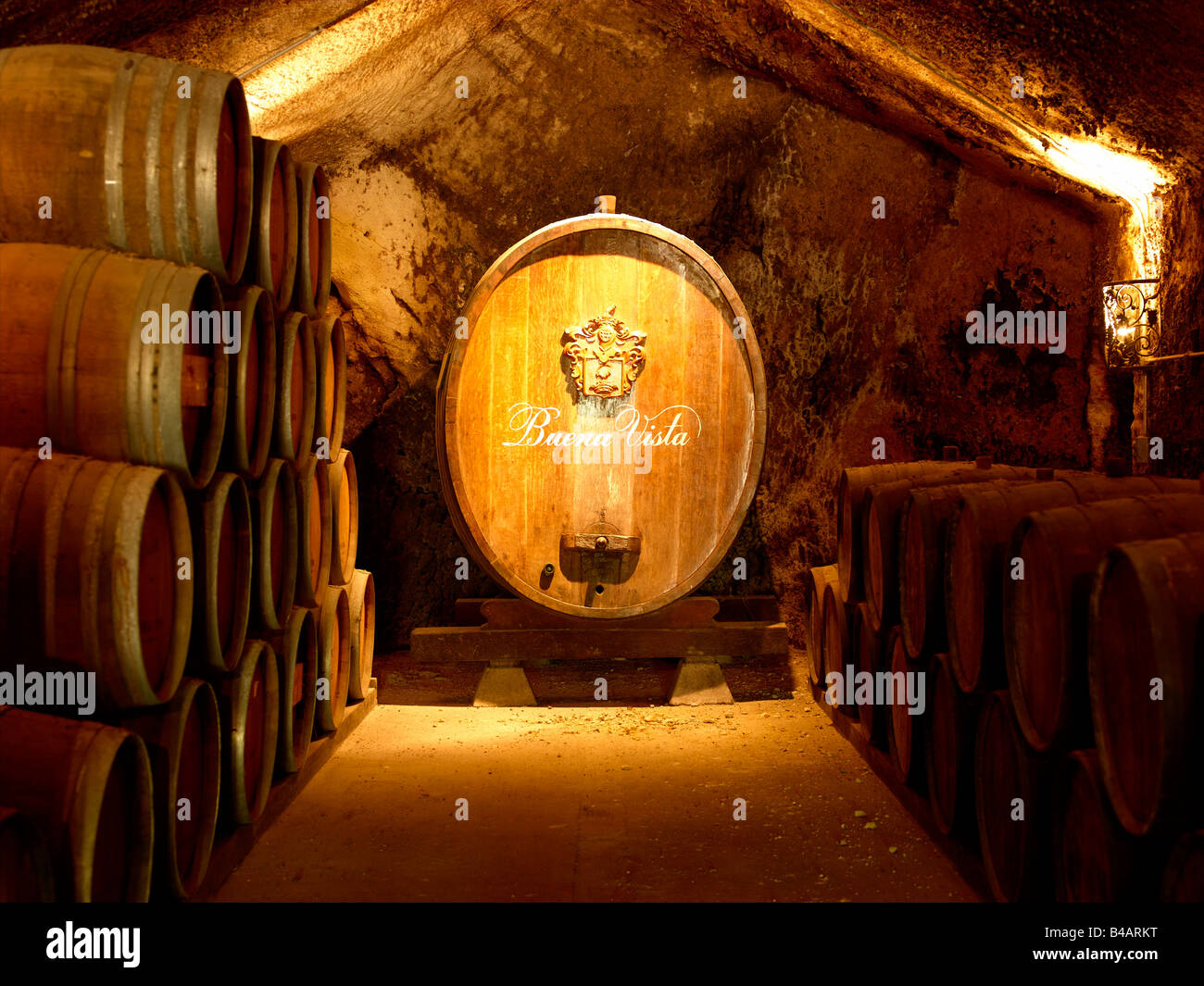 First Wine Celler & Vineyard, California Buena Vista - Stock Image