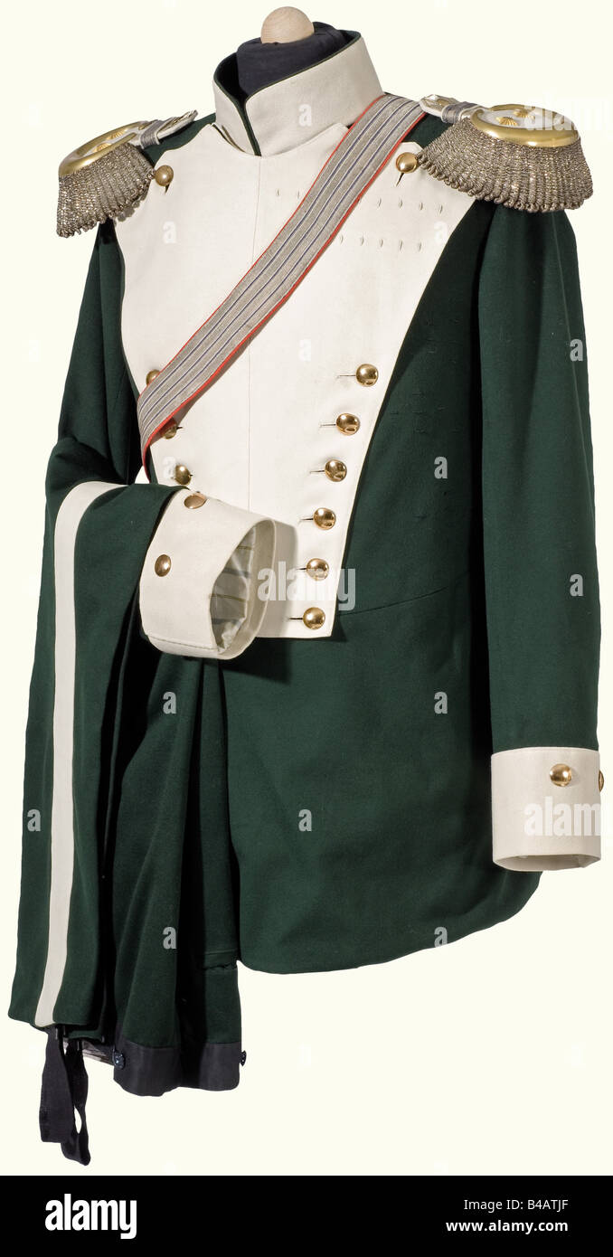 Prince Alfons of Bavaria - a uniform as Cavalry General and Proprietor of the 7th Chevauleger Regiment., Tunic of - Stock Image