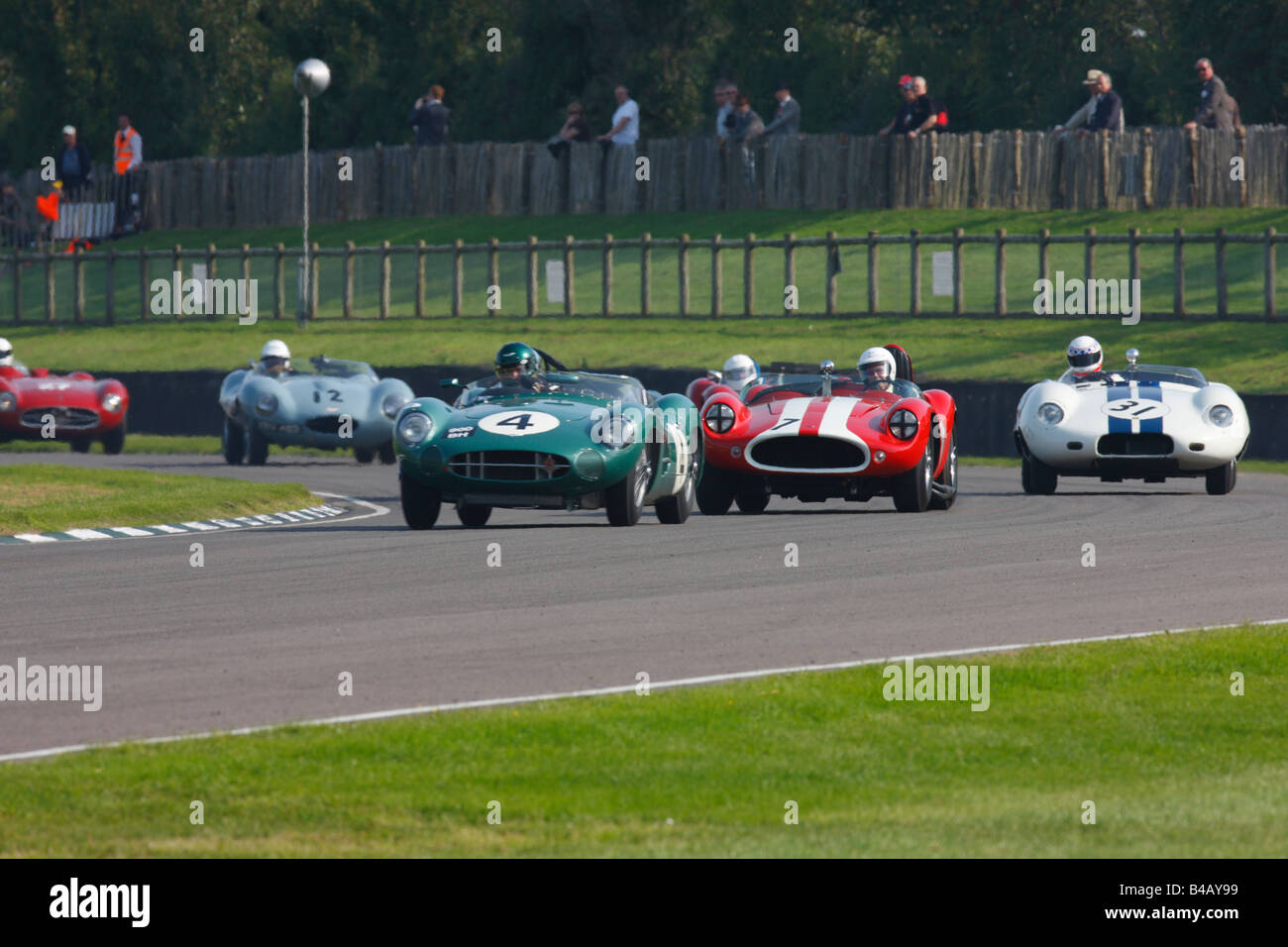 Classic sports cars racing at the 2008 Goodwood Revival meeting Stock Photo