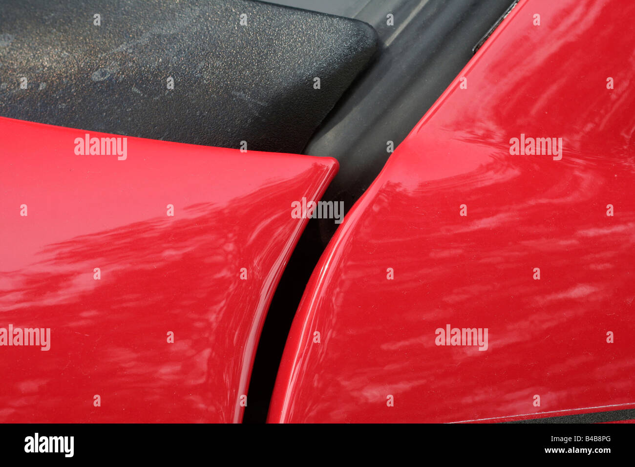 Car red SUV body detail - Stock Image