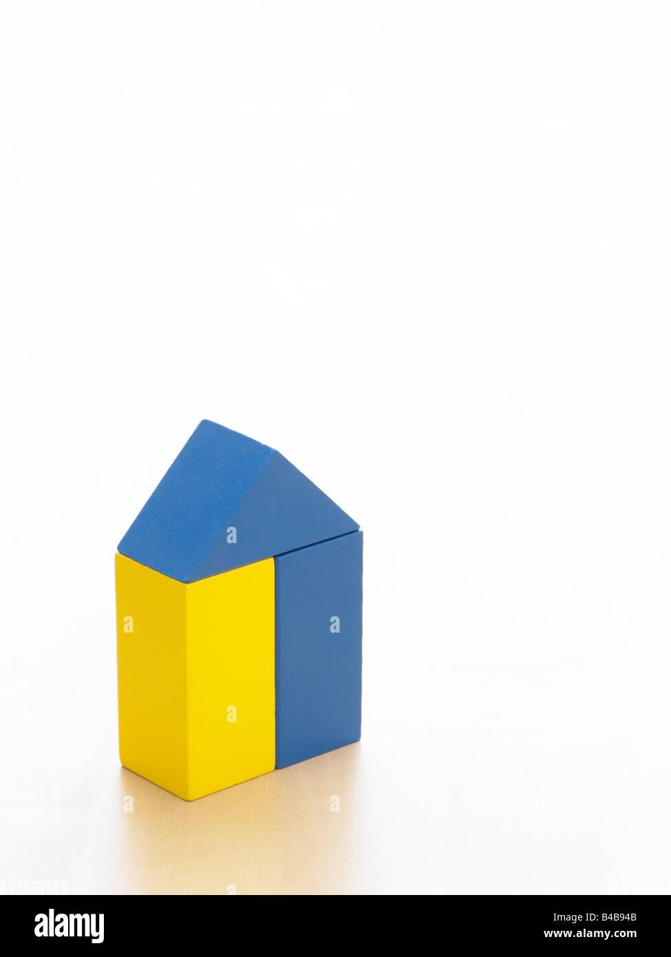 toy children's wooden building blocks Stock Photo