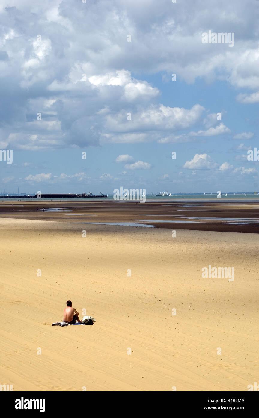 Ryde Beach, Ryde, Isle of Wight, England, UK. - Stock Image