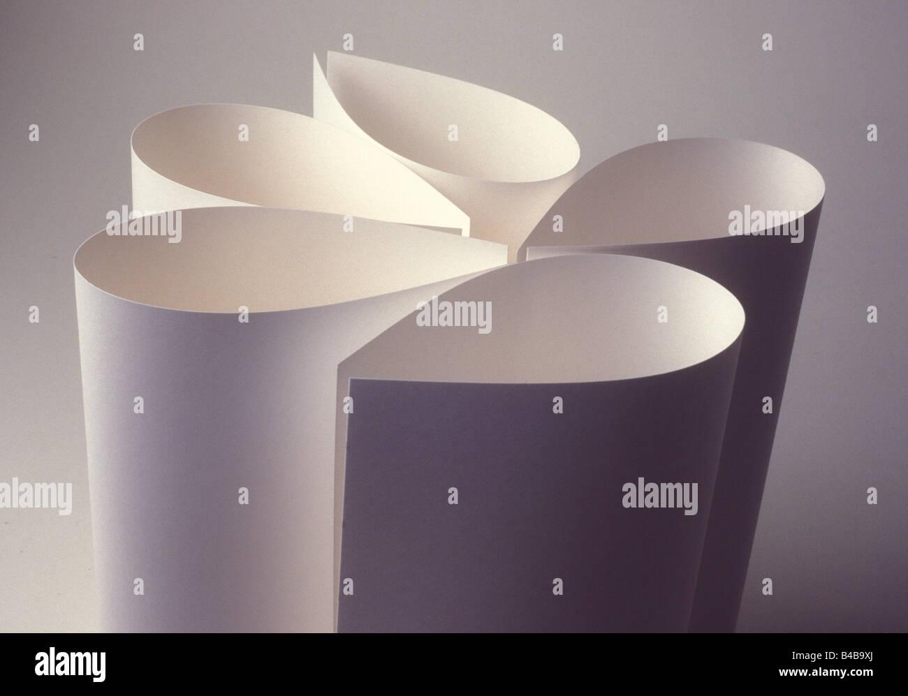 paper folds - Stock Image