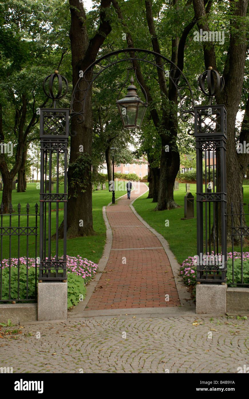 Entrance to the Loyalist Burial Ground in the city of Saint John, New Brunswick, Canada - Stock Image