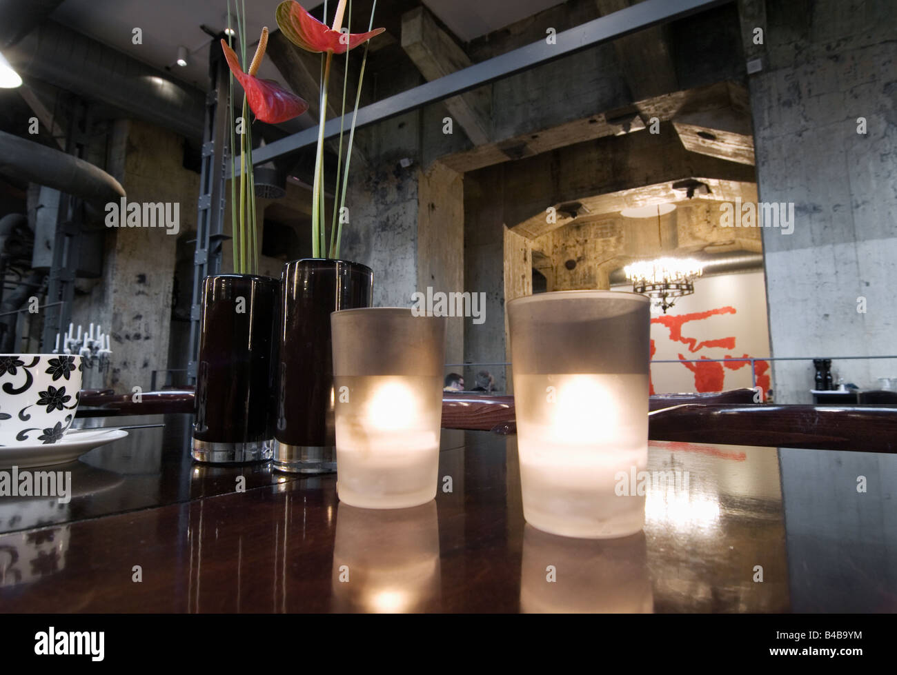 Restaurant Casino at Zeche Zollverein in Essen Germany - Stock Image