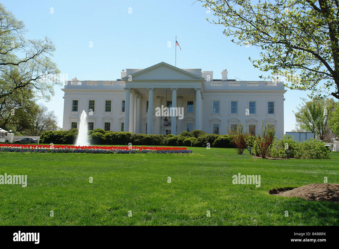 The White House Residence Of The President Of The United States Of Stock Photo Alamy