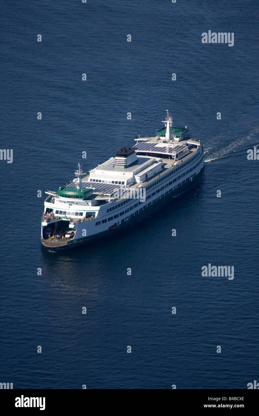 Washington State Ferry near Seattle in Puget Sound - Stock Image