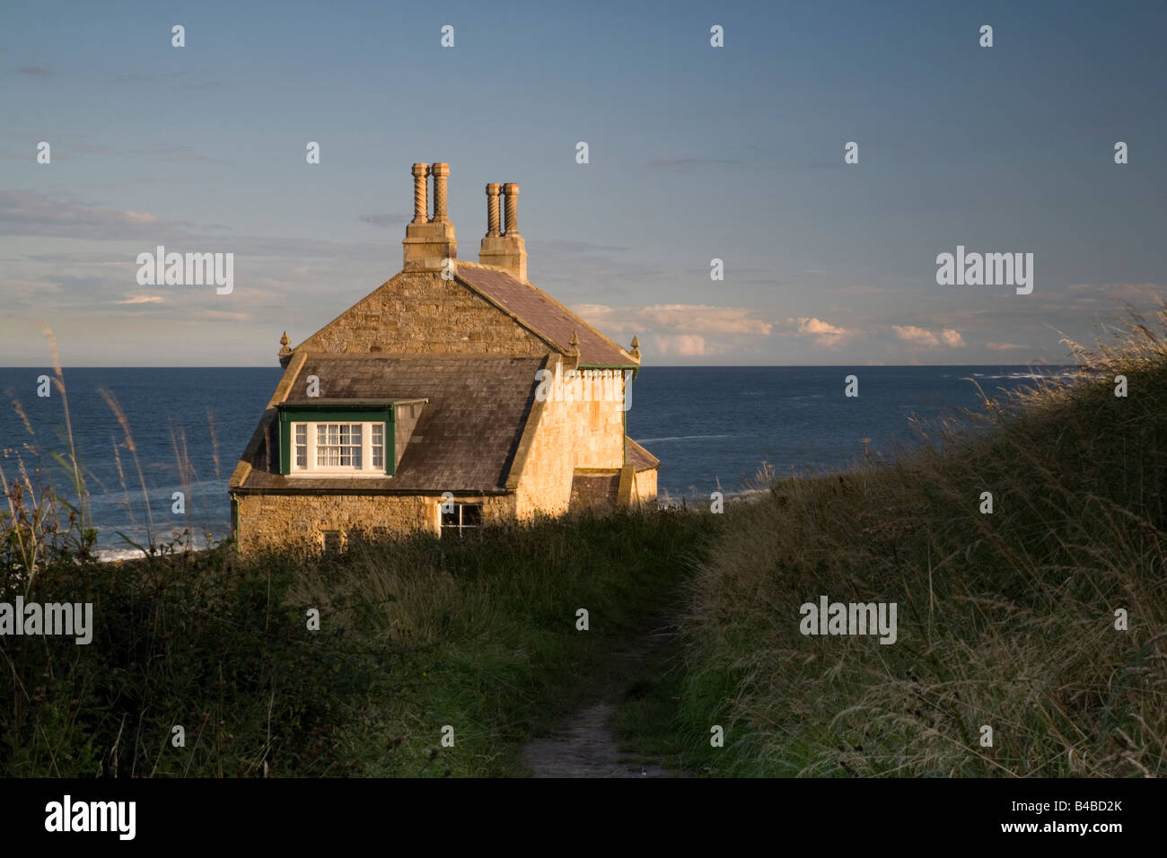 The Bathing House self catering holiday cottage near Craster in Northumberland - Stock Image