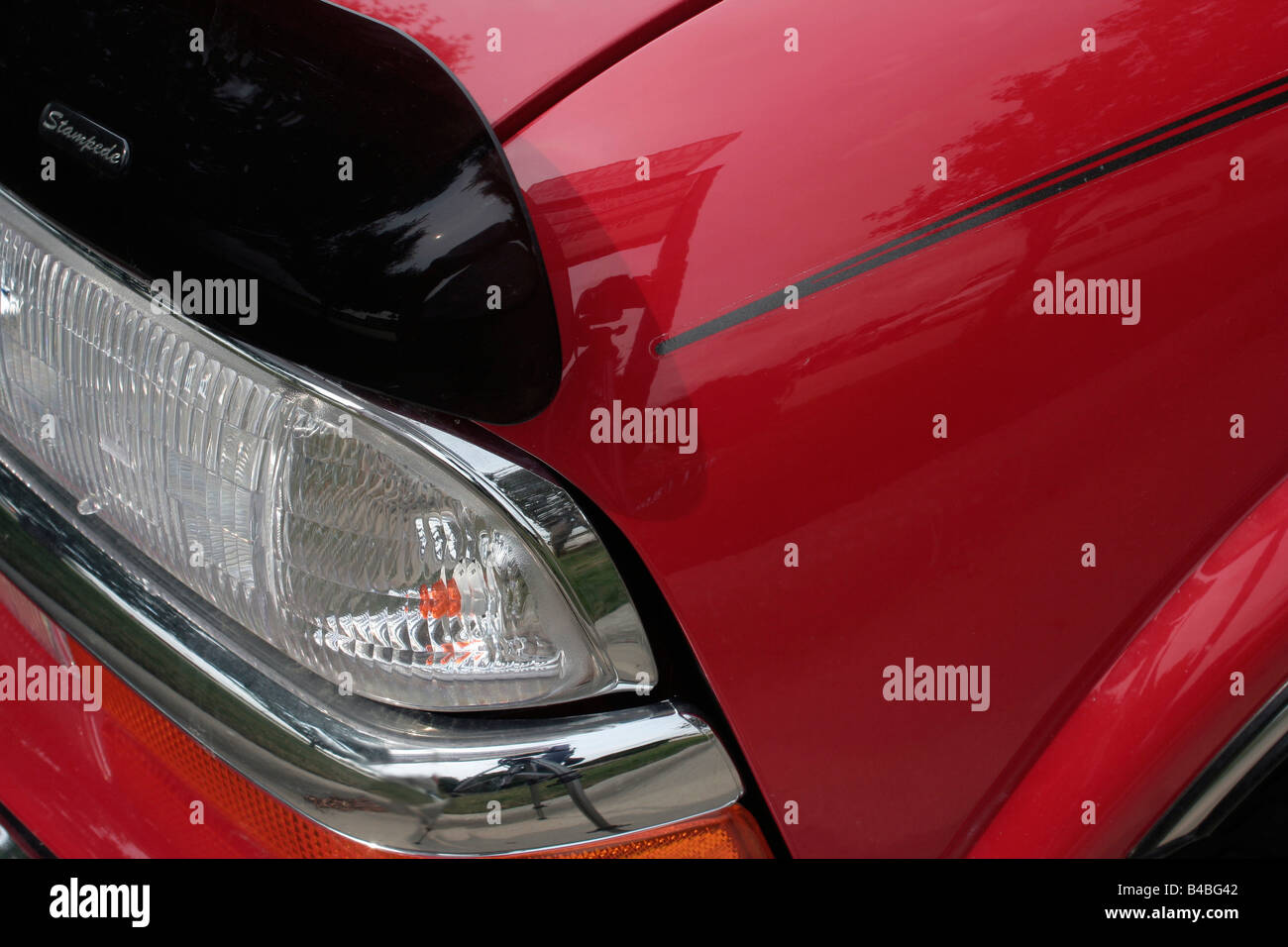 Car SUV body and headlight detail - Stock Image