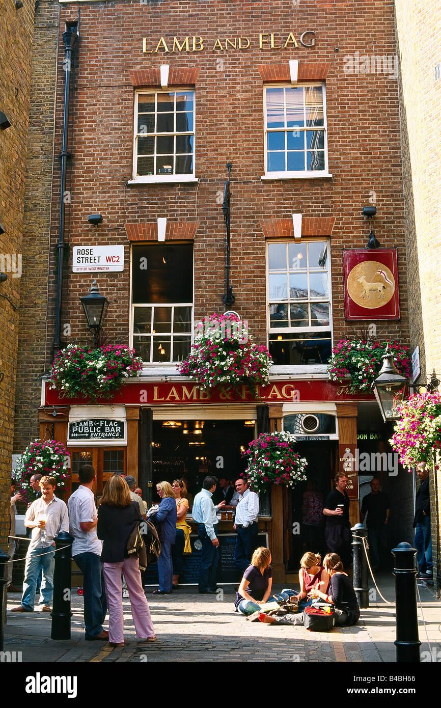 Great Britain - London - Soho district - Covent Garden - Pub Lamb ...