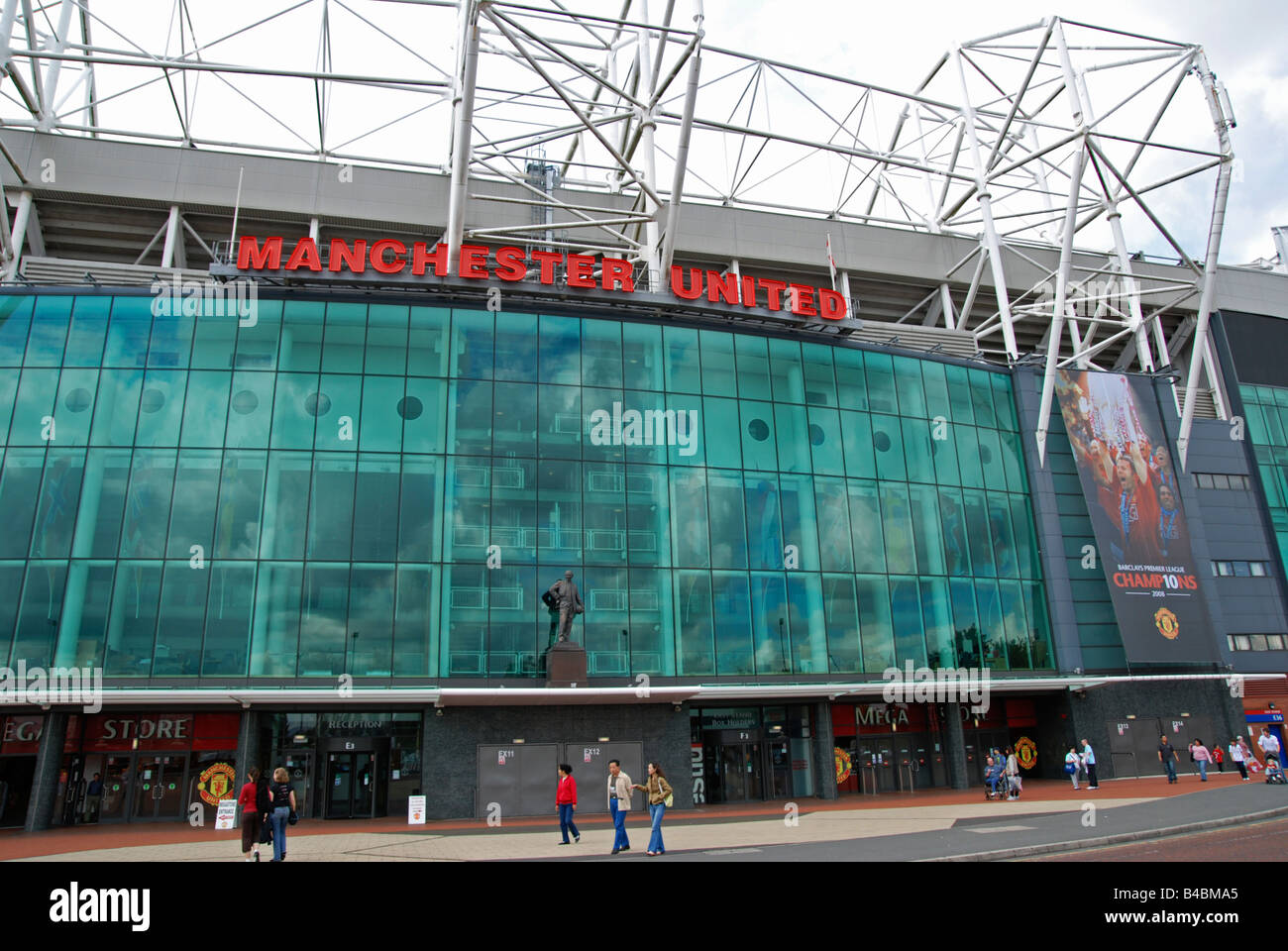 outside old trafford home of manchester united football club,england,uk - Stock Image