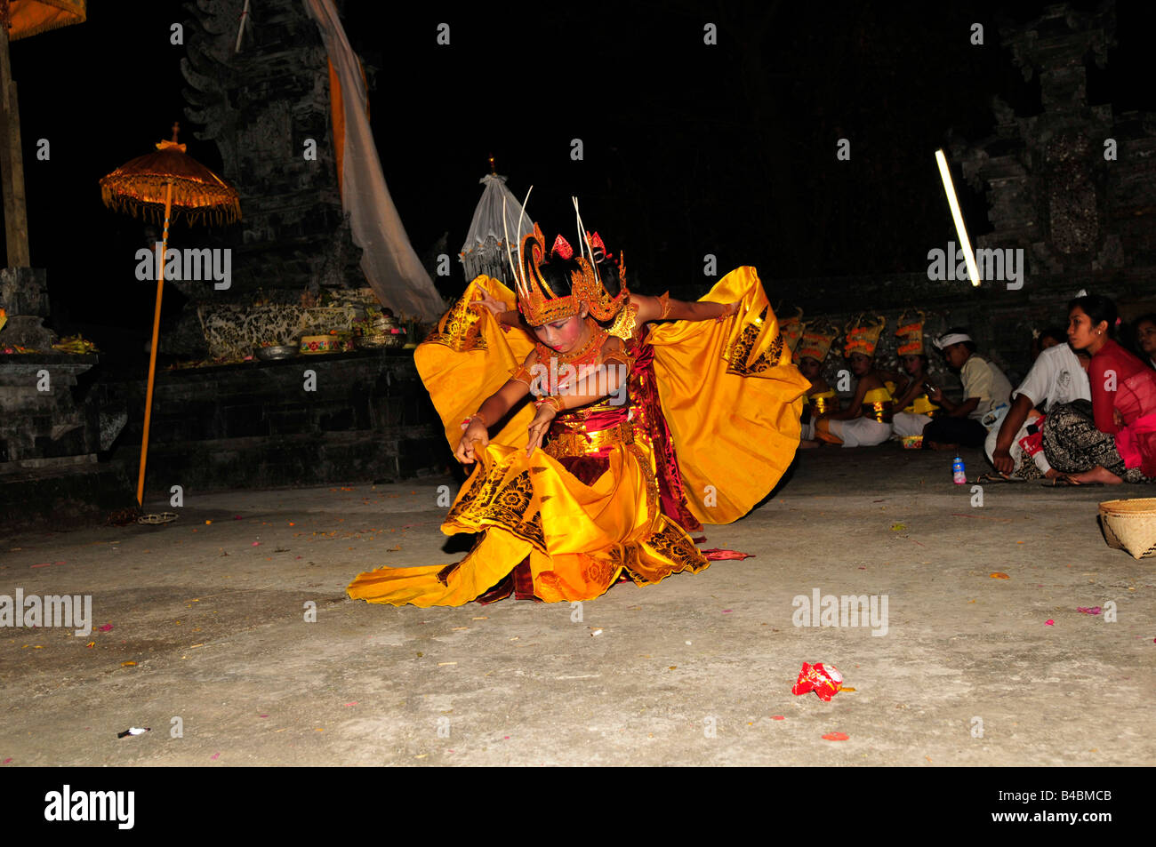 Sacred dance at night time on the temple cerebration day