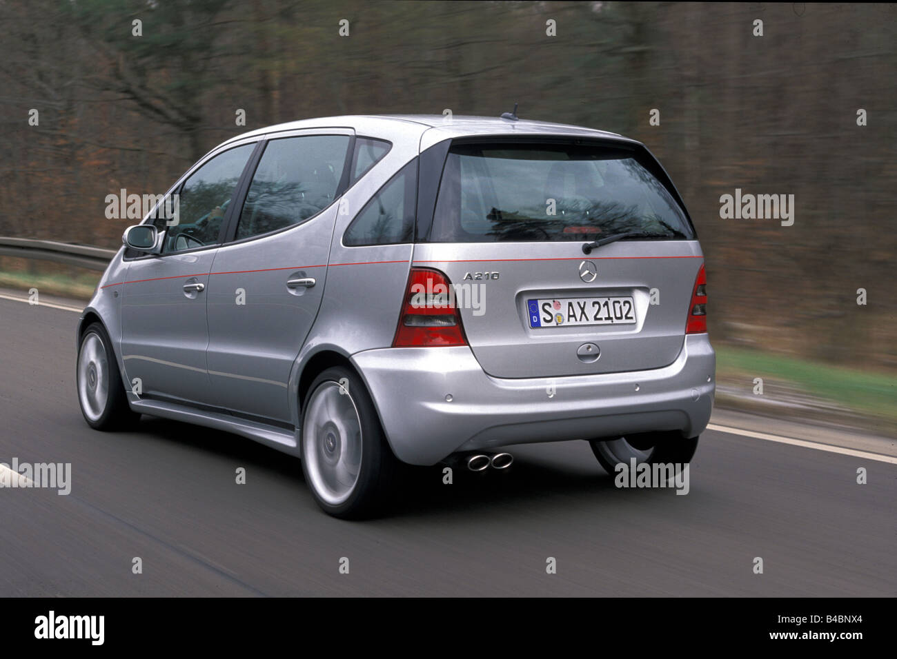 Car, Mercedes A 210 Evolution, A-Klasse, model year 2001-, silver, Lower middle-sized class, Limousine, FGHPS, Tuning, - Stock Image