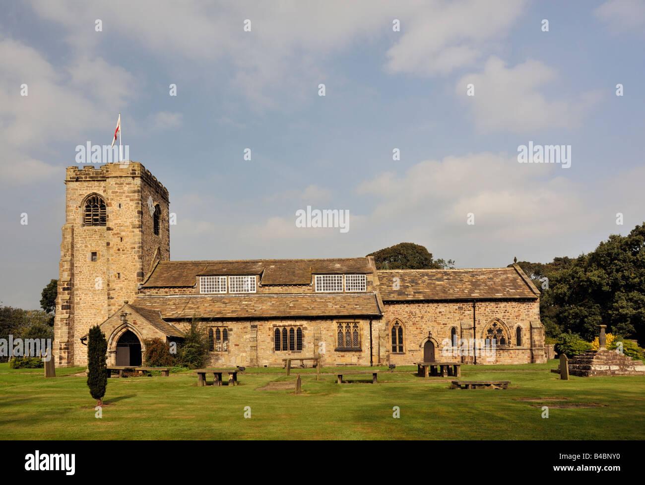 Church of Saint Wilfrid, Ribchester, Lancashire, England, United Kingdom, Europe. - Stock Image