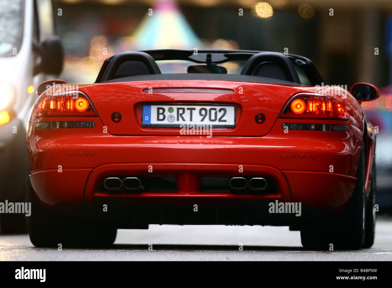Car Dodge Viper Srt 10 Convertible Model Year 2003 Red Fghds Stock Photo Alamy