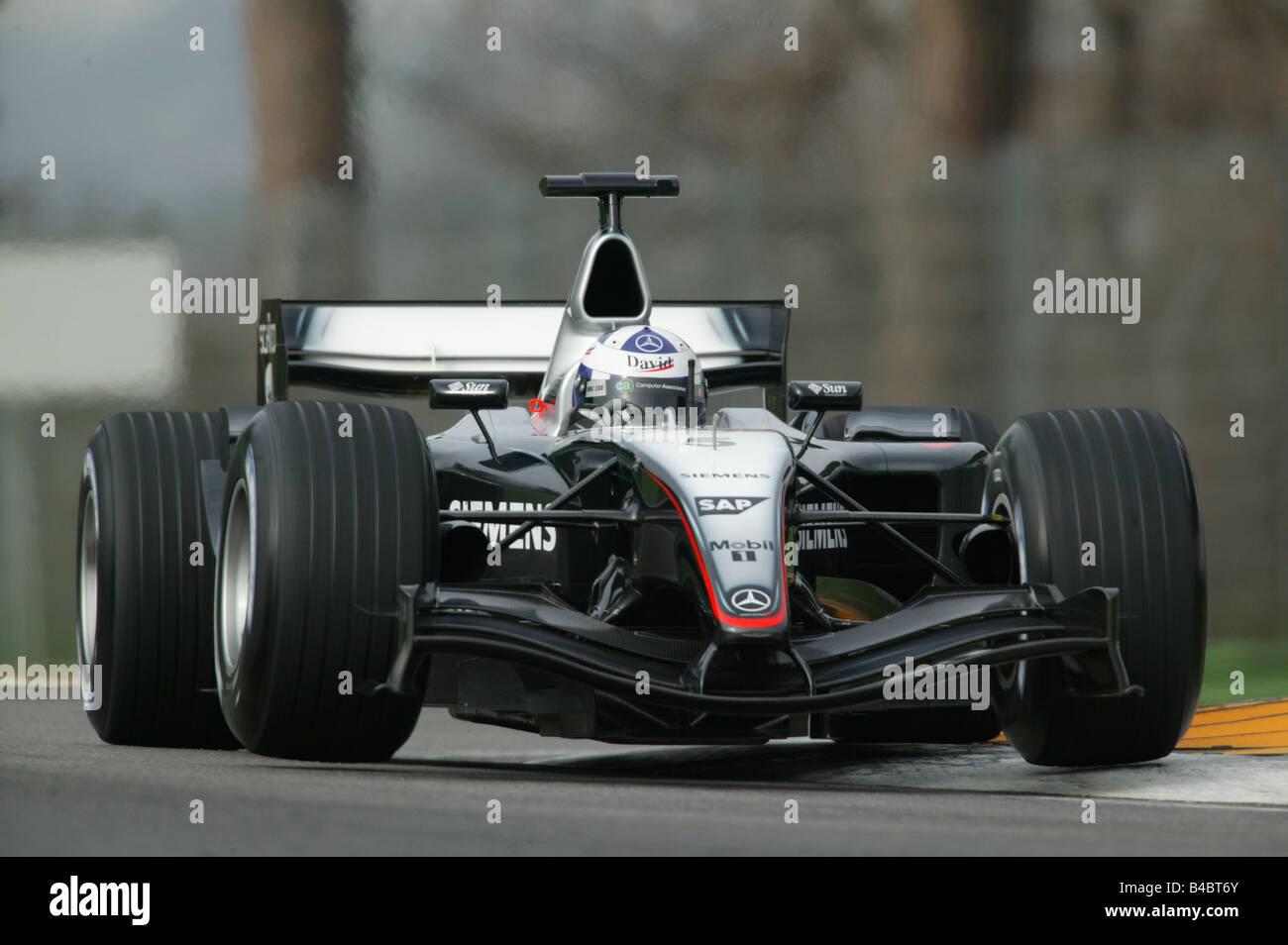engine sport, david coulthard in mclaren mercedes, training, formel