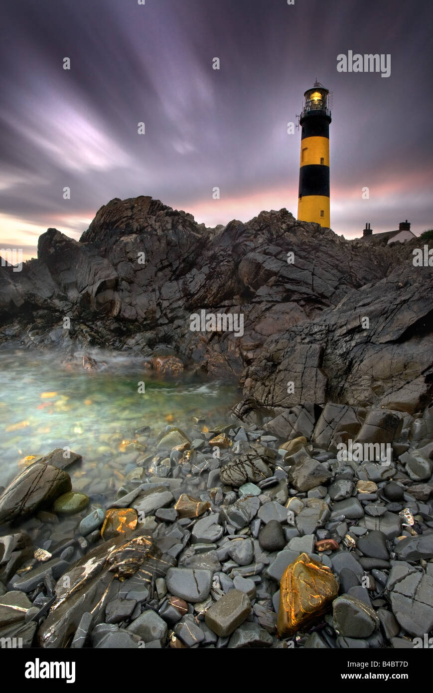 St John's Point Lighthouse, Co Down. - Stock Image