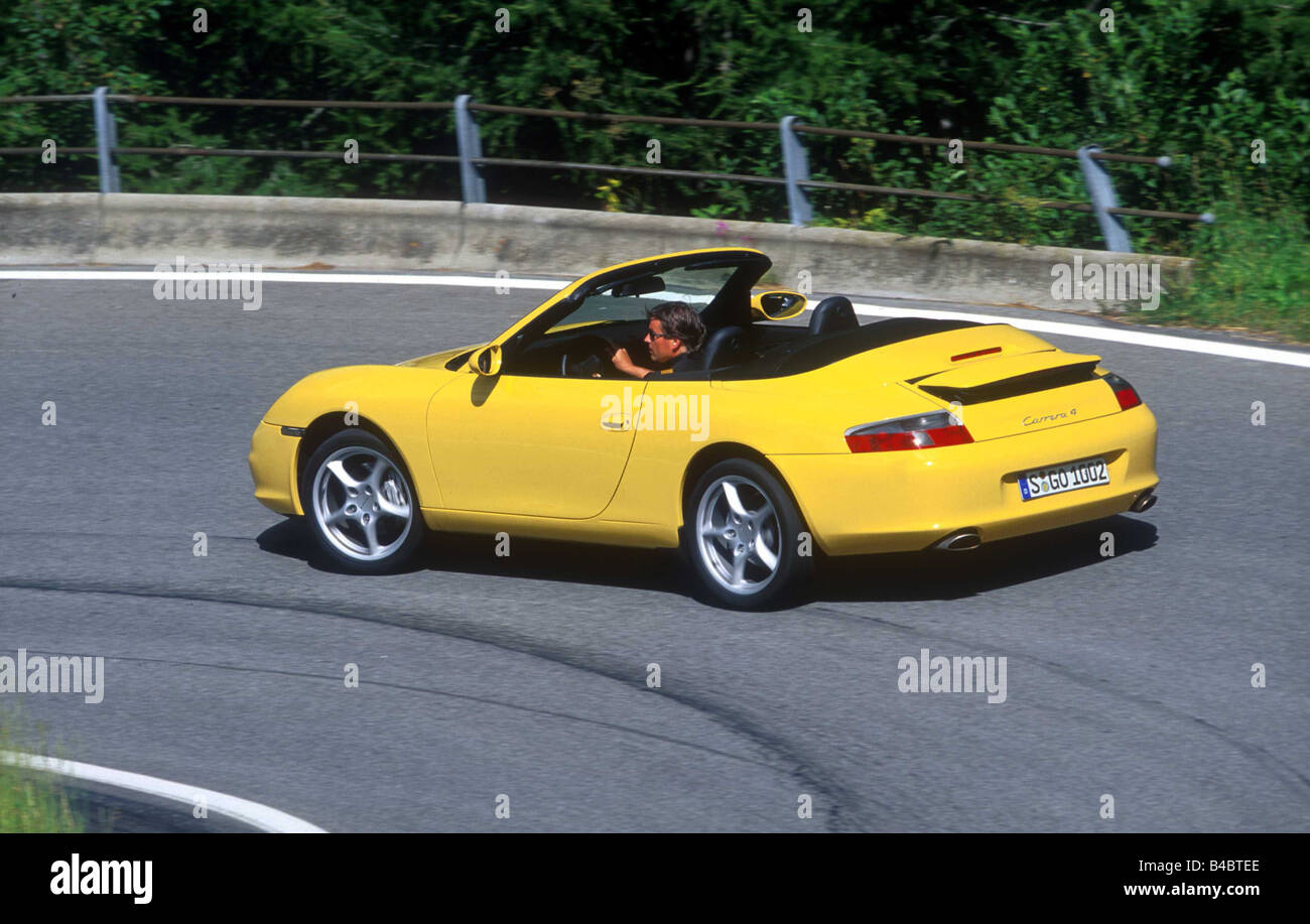 Car Porsche 911 Carrera Convertible Model Year 2001 Yellow Open