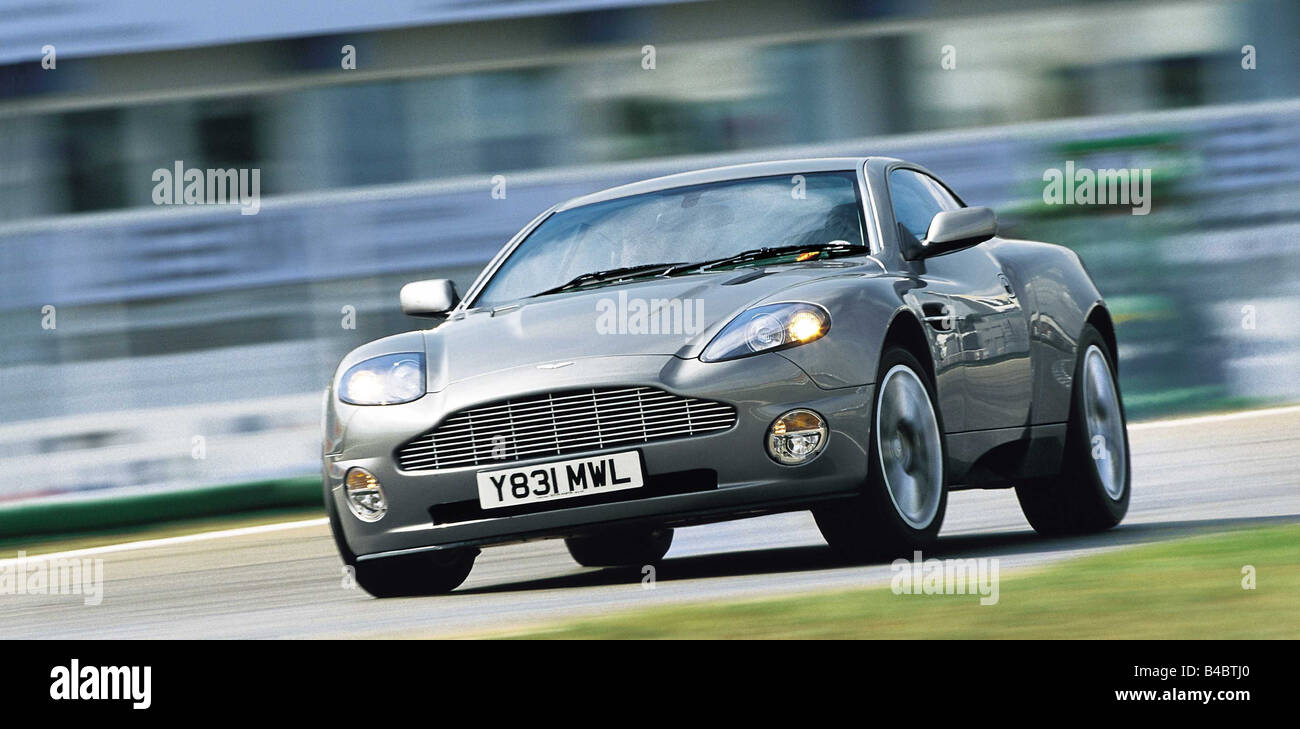 Car Aston Martin V12 Vanquish Model Year 2001 Silver Diagonal Stock Photo Alamy