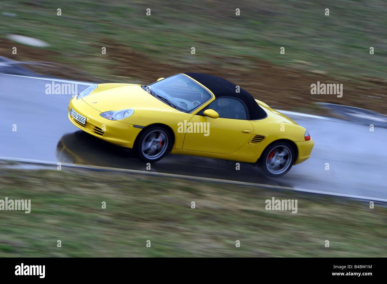 Car, Porsche Boxster S, yellow, Convertible, closed top