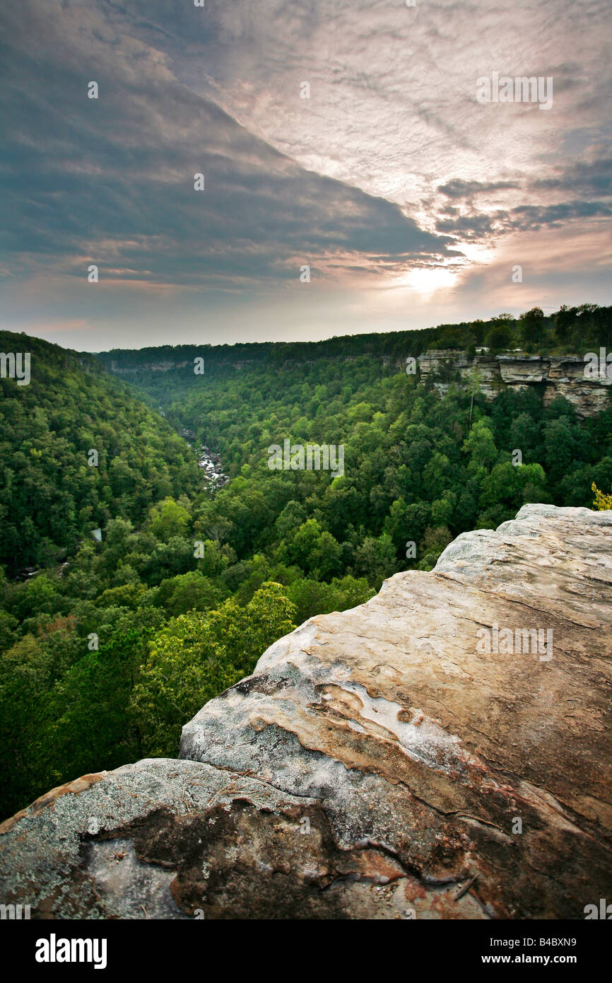 Little River Canyon National Preserve Alabama - Stock Image