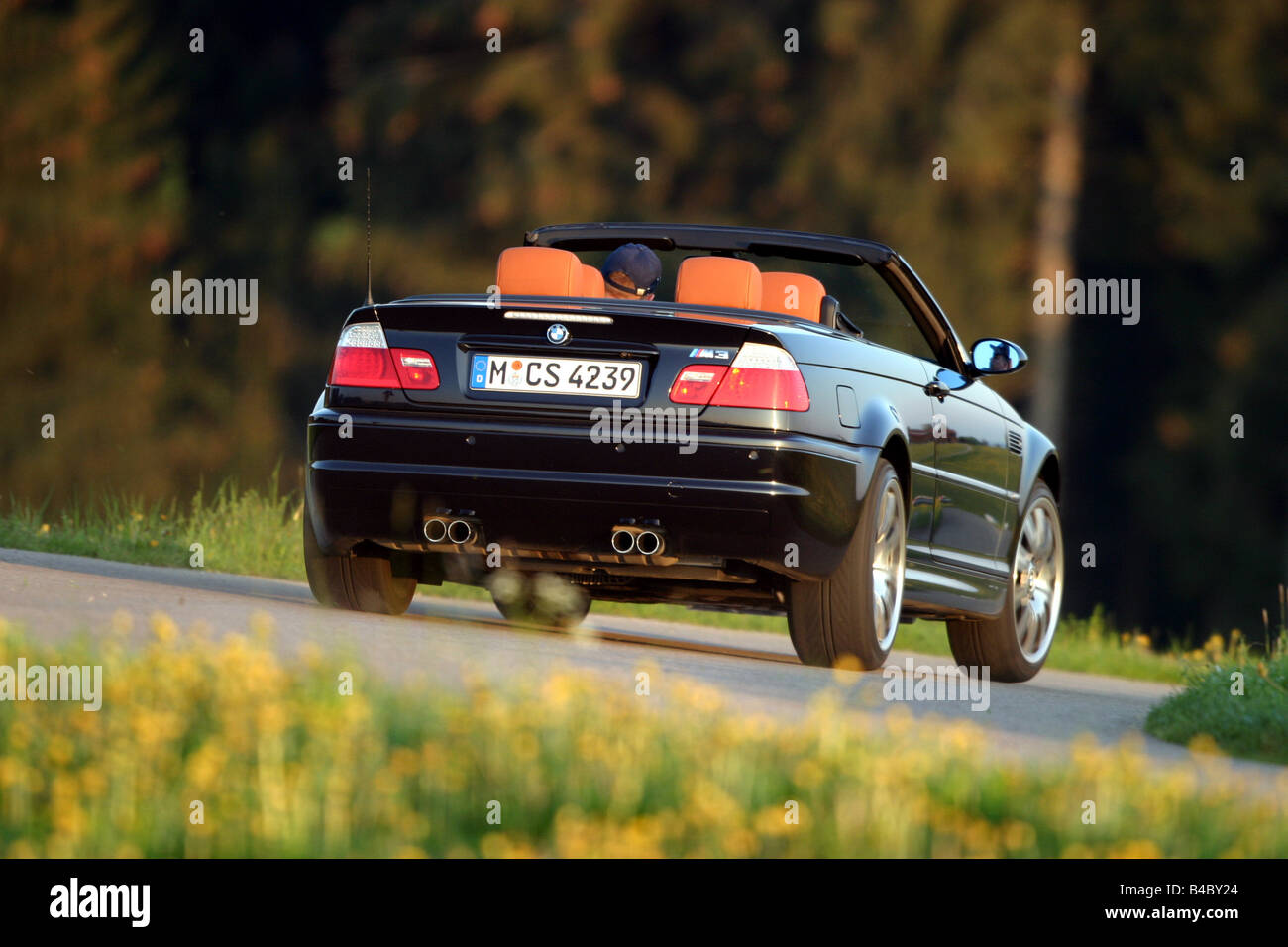 Car Bmw M3 Convertible Model Year 2003 Black Open Top Driving