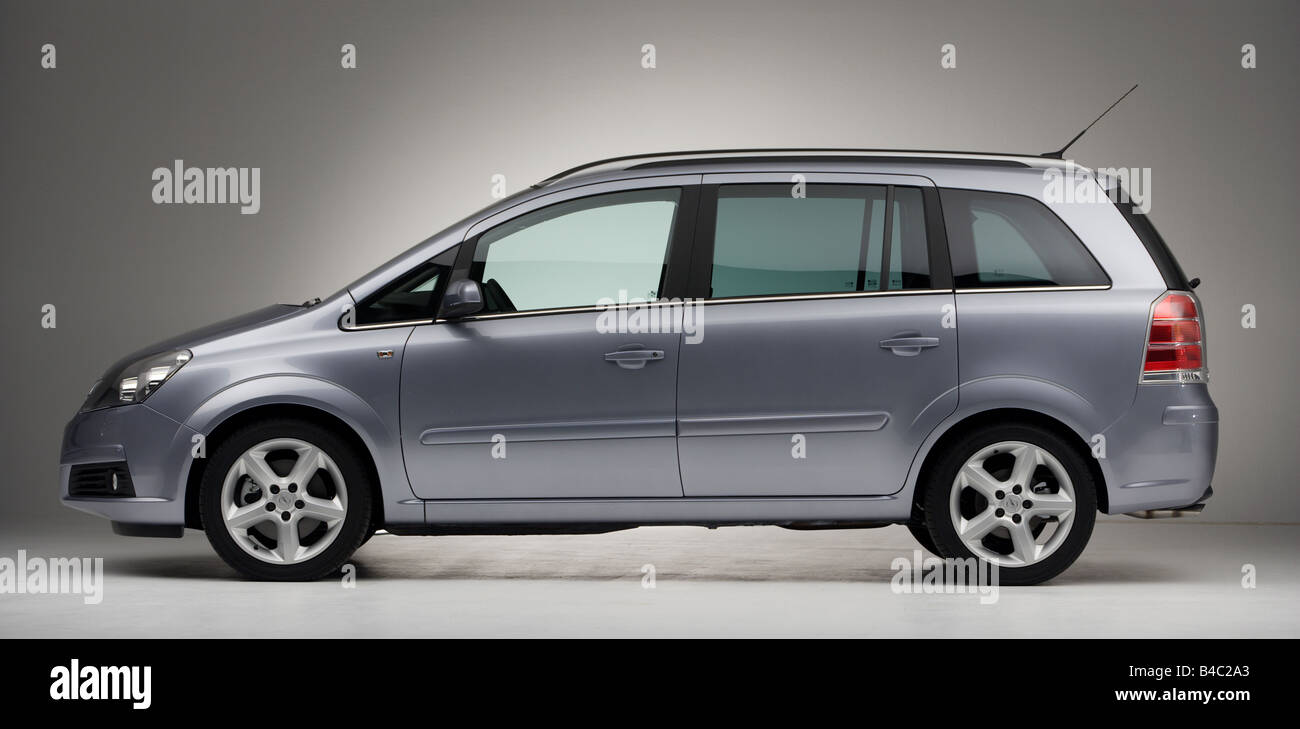 car opel zafira van model year 2005 silver standing. Black Bedroom Furniture Sets. Home Design Ideas