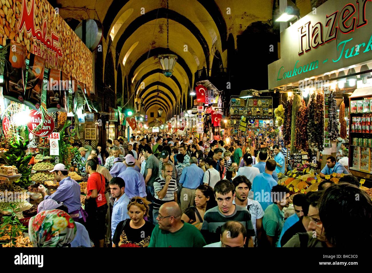 Egyptian Spice Bazaar Istanbul Turkey - Stock Image