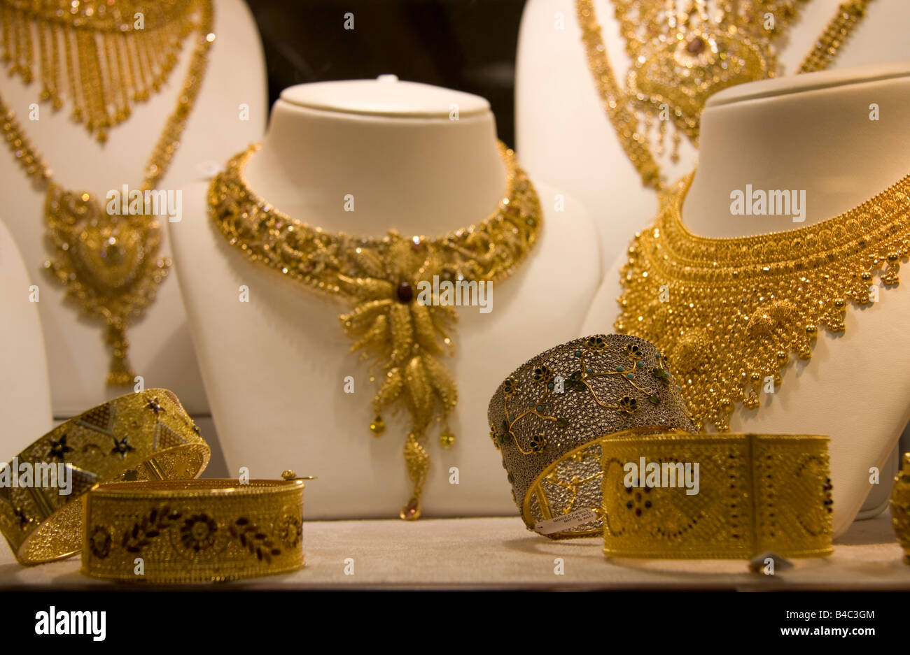 Gold Necklace Dubai Stock Photos Gold Necklace Dubai Stock Images