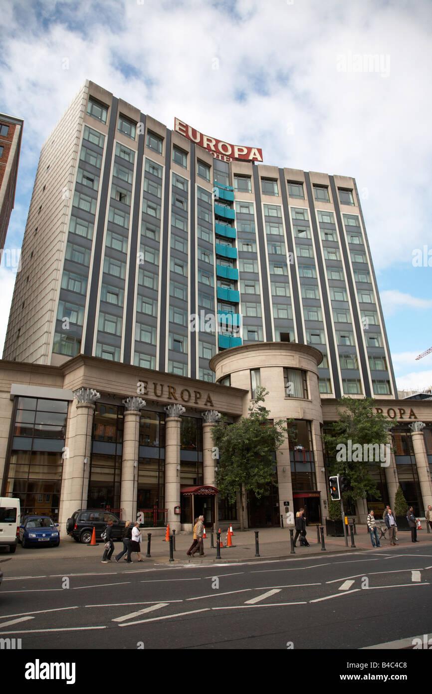 The Europa Hotel belfast city centre northern ireland uk - Stock Image