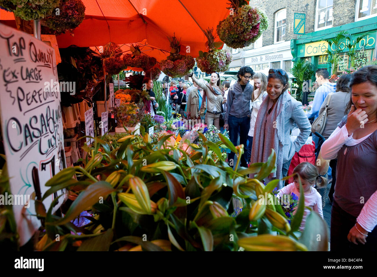 Colombia Rd  flower market - Stock Image
