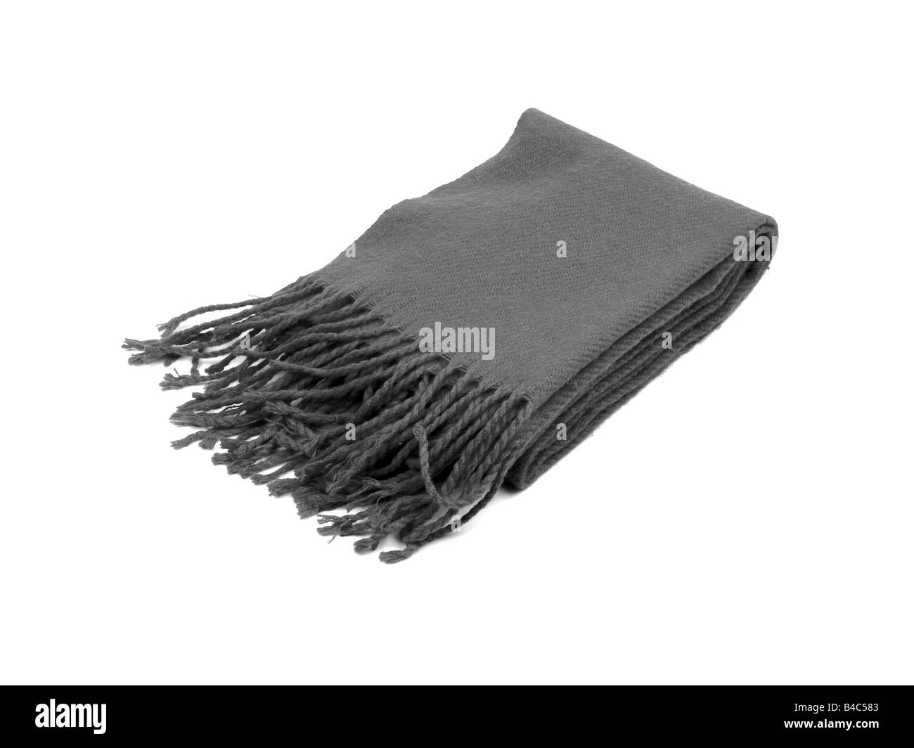 Gray Wool winter scarf - Stock Image