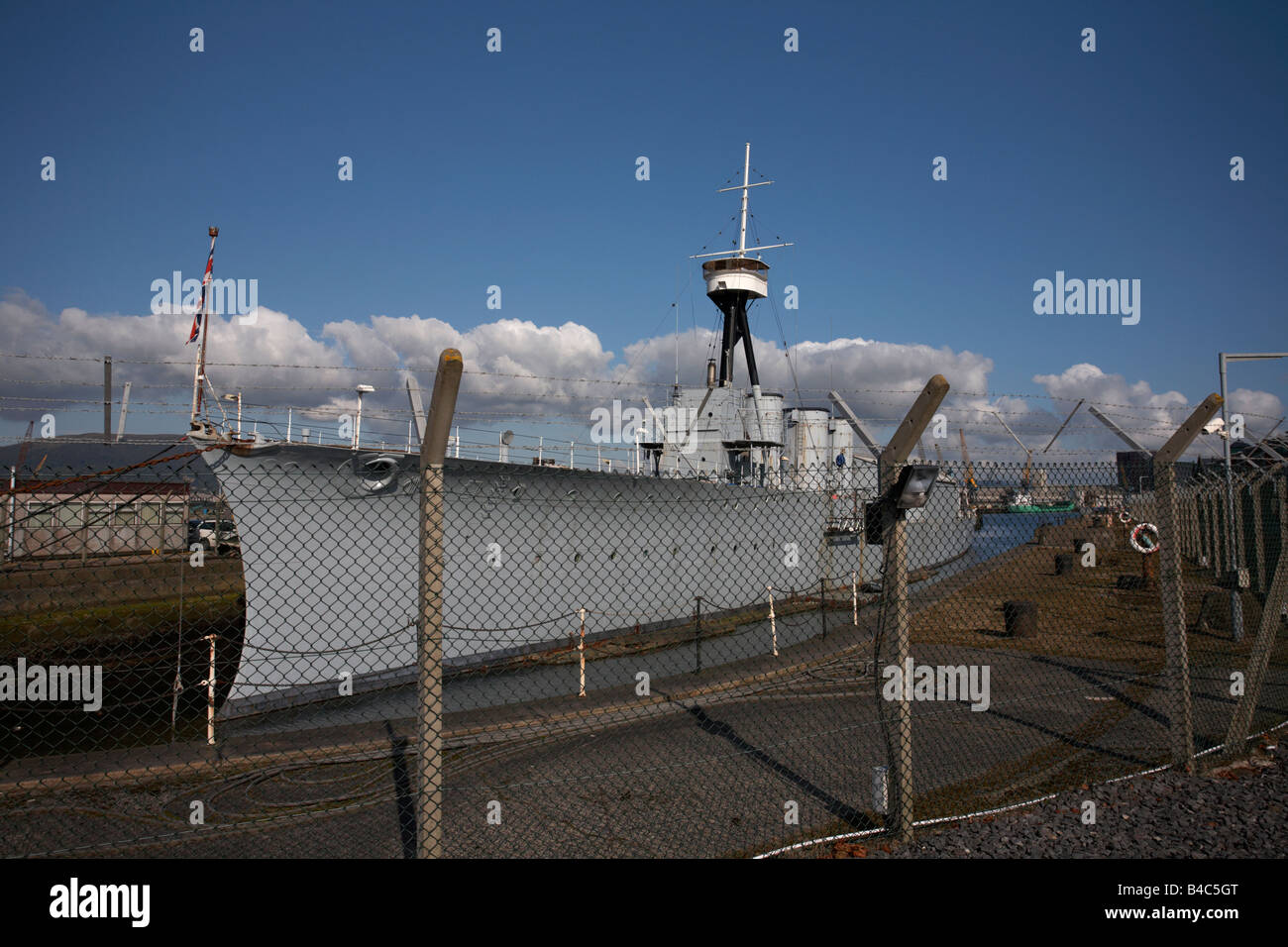 HMS Caroline belfast city centre northern ireland uk Stock Photo
