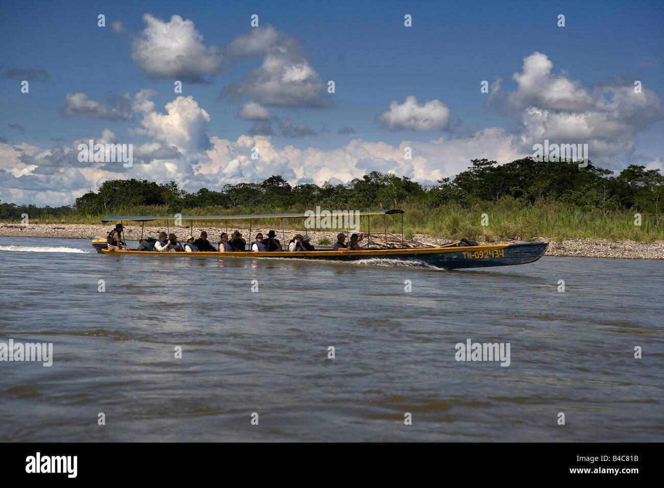 Taxi on Napo River, Amazon Rain Forest, Ecuador - Stock Image